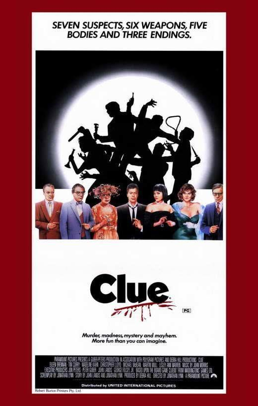 Pin By Diane Bancroft On Clue In 2020 Clue Movie Best Movie Posters Movie Posters