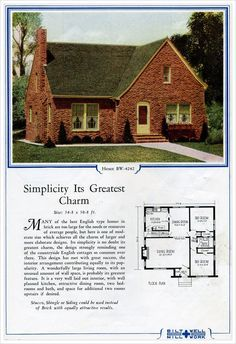 33 best images about 1940s houses and products on for Brick kit homes