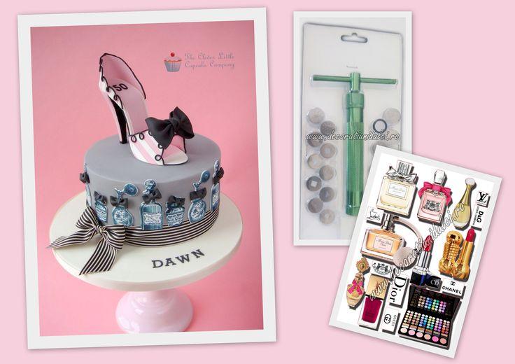Colectia de vara :) fashion si la 50 de ani. #extruder cu infiletare pentru siretele dulci fara cusur https://decoratiunidulci.ro/dif…/extruder-cu-infiletare.html #imprimari pe coli din pasta de zahar https://decoratiunidulci.ro/imprimari-si-decupari-foi-de-ic… SURSA: http://www.cakecentral.com/…/3043103/vintage-style-shoe-cake