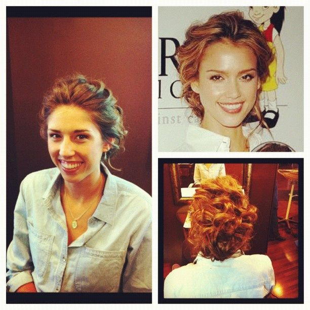My Jessica Alba inspired updo for prom. fab <3