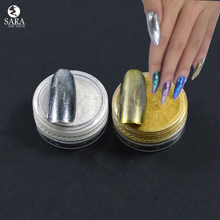 1g Mirror Powder Gold Silver Pigment Nail Glitter Nail Art Chrome Effect Magic Mirror Powder For Nail Polish Nail Accesories#2,4