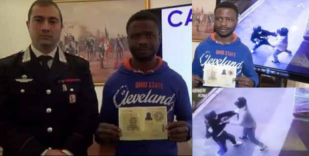 Nigerian Illegal Immigrant Given Permanent Residence Permit After Foiling A Robbery In Italy (Video)