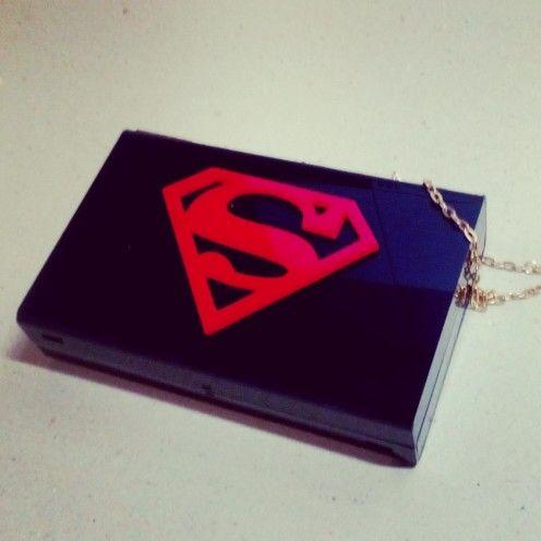 Superman black clutch