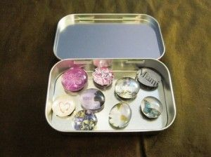 Magnets out of marbles--cute, and easy!