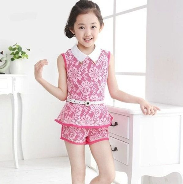 Check this product! Only on our shops   New Arrival Brand Design Big Girls Children Clothing Sets ( Tops + Shorts ) Lace Patchwork Cute Kids Pullover Clothes With Belt - US $19.59 http://toyswebonline.com/products/new-arrival-brand-design-big-girls-children-clothing-sets-tops-shorts-lace-patchwork-cute-kids-pullover-clothes-with-belt/
