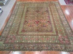 British Arts & Crafts  (L27421)    $24 500.00      Aha! The real deal! A very rare and valuable Arts & Crafts original area rug, falling well into the category of British Antiques. All handwoven
