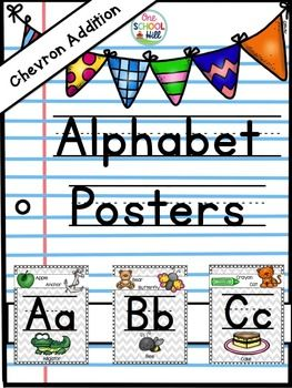 These fun and engaging chevron alphabet posters will help decorate any space…