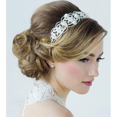 Serre Tête Headband bijoux de tête , Coiffure Mariée , Chignon Mariage , Esprit Bohème,
