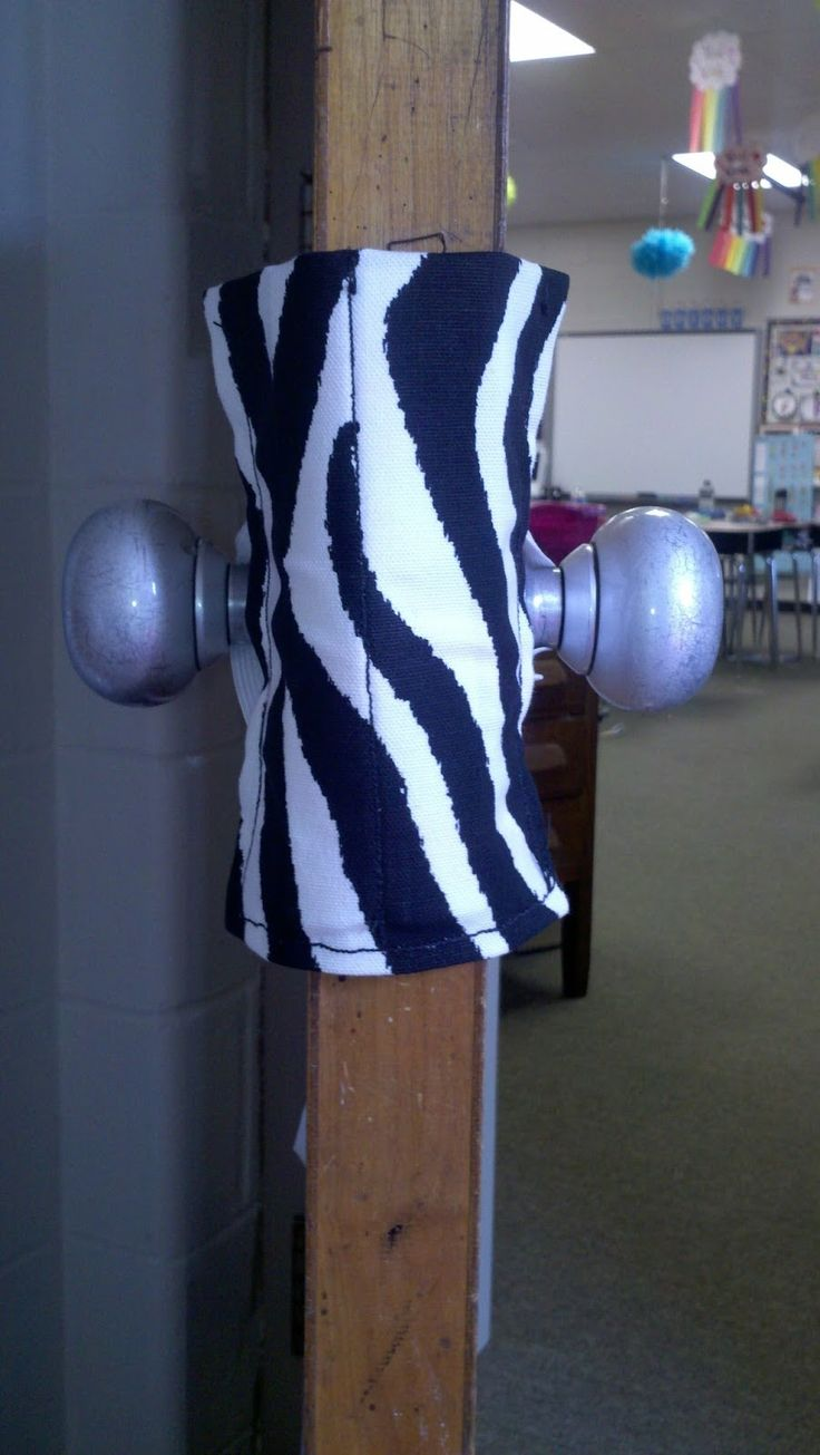 Lock Smocks = Genius! A way to keep your door locked for a lock down, but still let kids come in and out. I so need this.