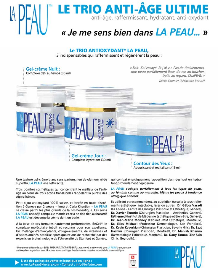 La Peau Luxury Skincare from Switzerland, by Befutur Suisse.