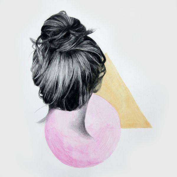 Hair Illustration  Art Print