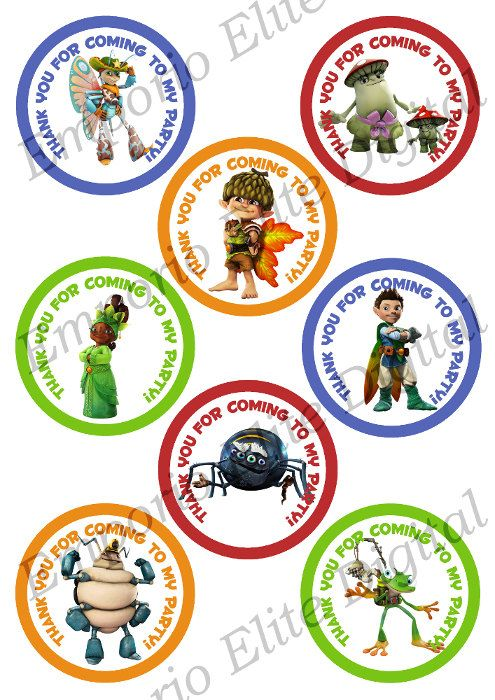 """INSTANT DOWNLOAD Tree Fu Tom Printable Party 3"""" Circle for Favors, Toppers, Stickers, Decorations"""