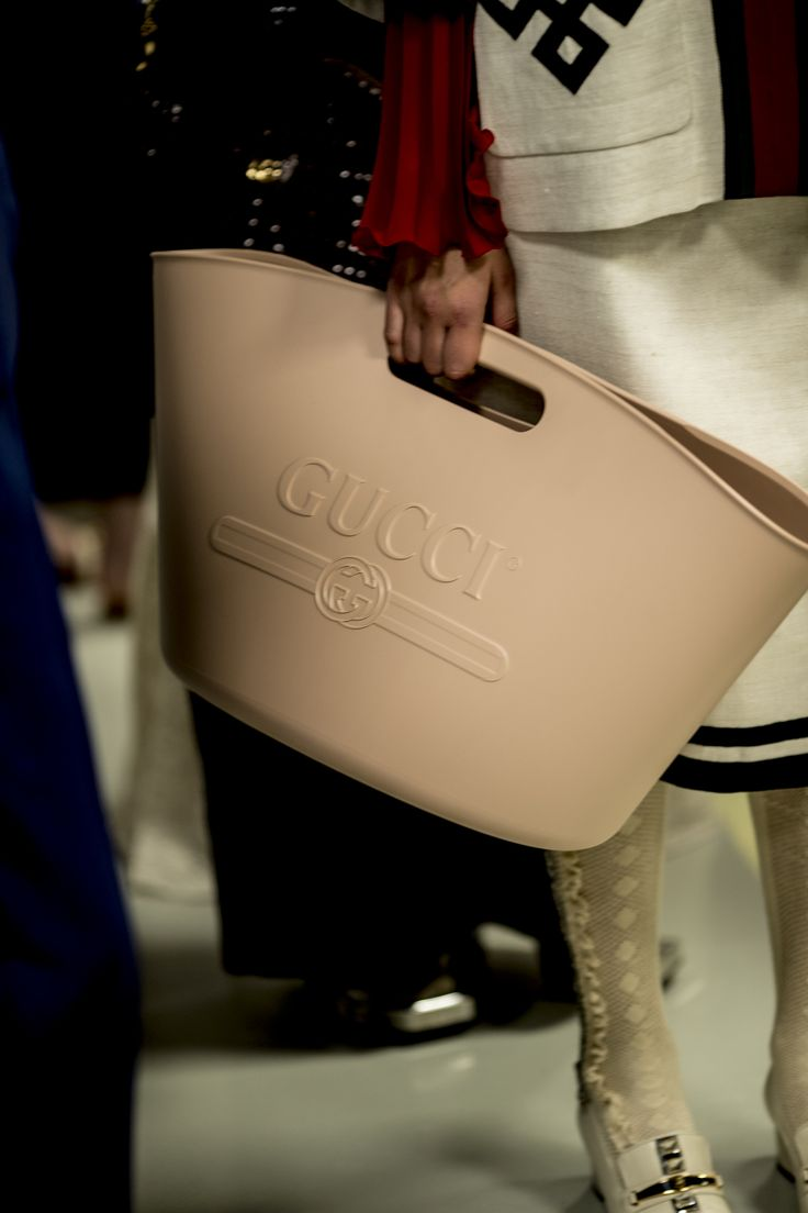 Gucci Spring Summer 2018 Fashion Show - a branded garden trug, who'd have thought!!!!