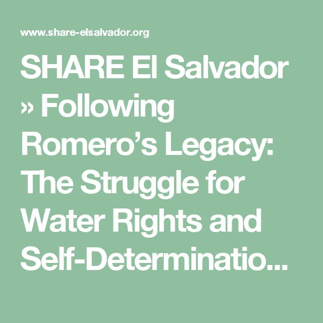 SHARE El Salvador  » Following Romero's Legacy: The Struggle for Water Rights and Self-Determination Delegation