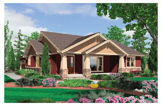 craftsman exterior with really nice layout inside