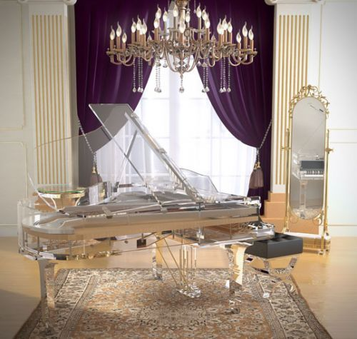 "The ""CRYSTAL EDITION"" by Blüthner #pianos. A transparent, 360 degree 'see through' piano, which allows you to see through 'to the heart' of your instrument. http://www.total-piano-care.com/bluthner-pianos.html"
