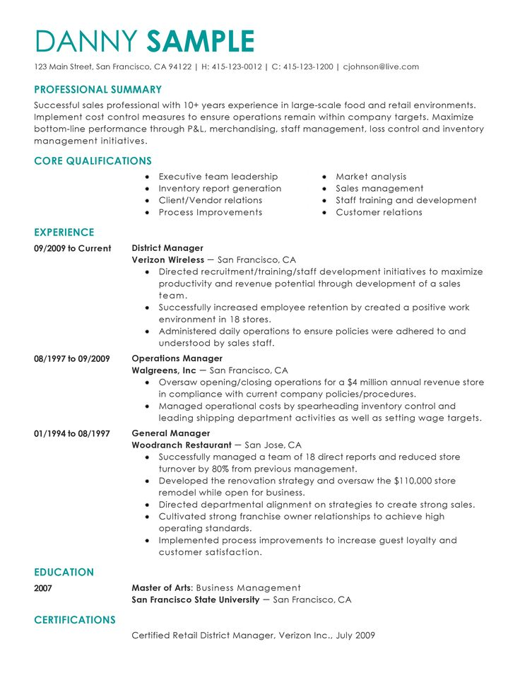 2020's Best Resume Templates by Category Resume summary