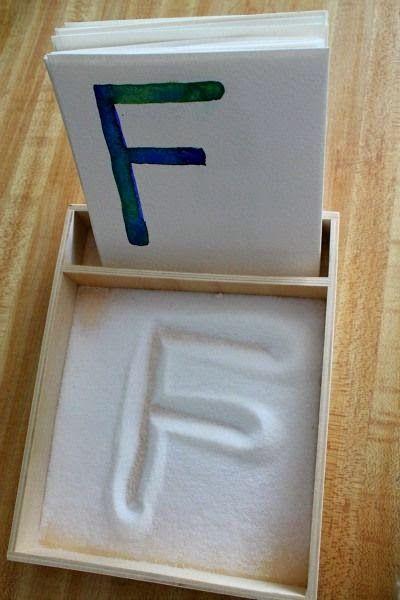Apprendre en s'amusant: Boite alphabet salé