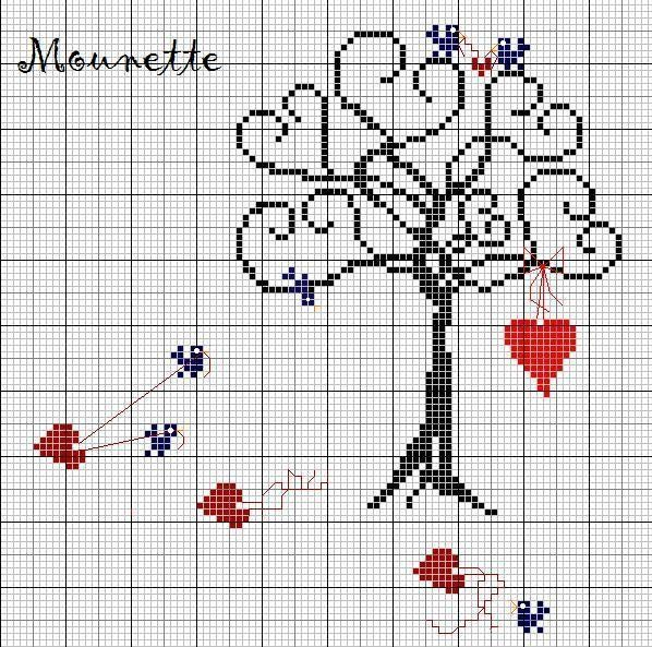 Valentine Tree - Precious. Lots of white space to add names, dates, etc.