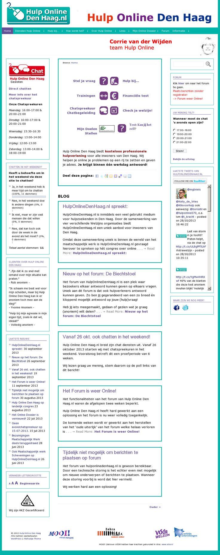 Hulp online den haag - hulp aan de klant staat (letterlijk) centraal. verschillende mogelijkheden om je vraag te stellen of om hulp te vragen. (via nathalie)