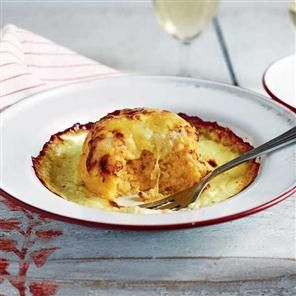 Twice-baked soufflés with gruyère and cheddar recipe. Soufflés are ...