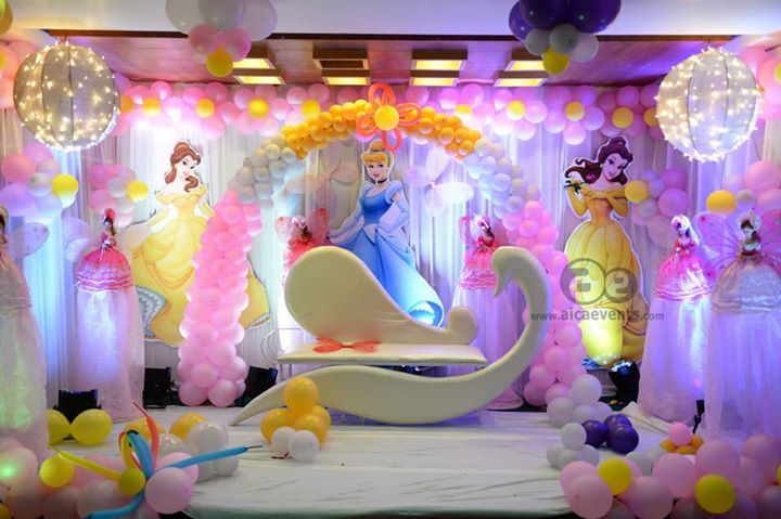 Princess theme birthday decorations theme decorations for 7 star balloon decoration