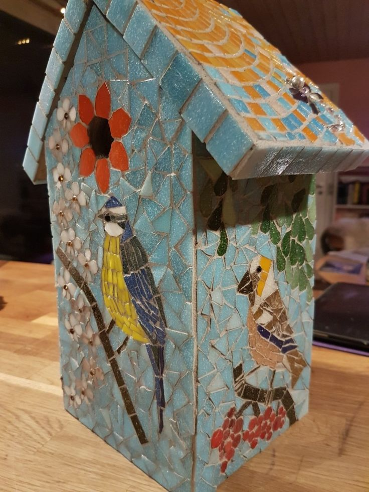 Mosaic Bird house by Carillo