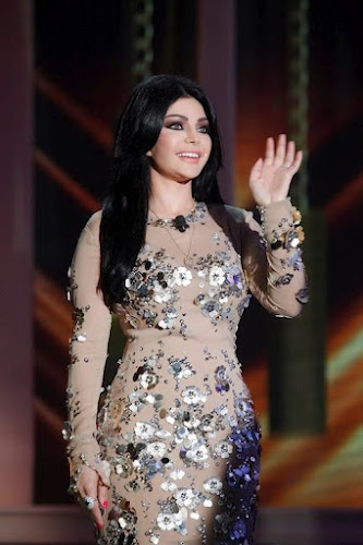 Haifa Wehbe is wearing LAURALIE Dress #azzaro