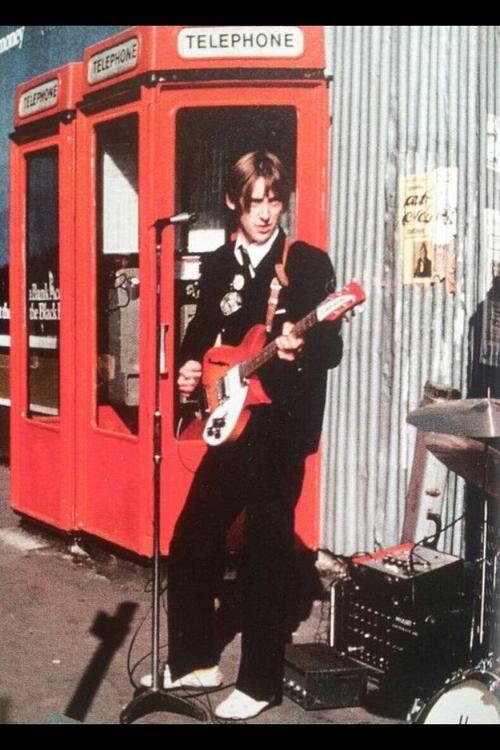 The Jam play outside Soho Market 1976 (Source: modrules, via americagiveup)