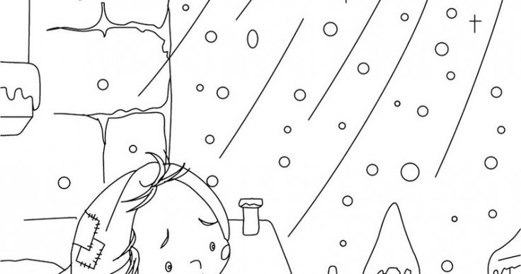 Little Match Girl Coloring Pages Coloring Pages Pinterest