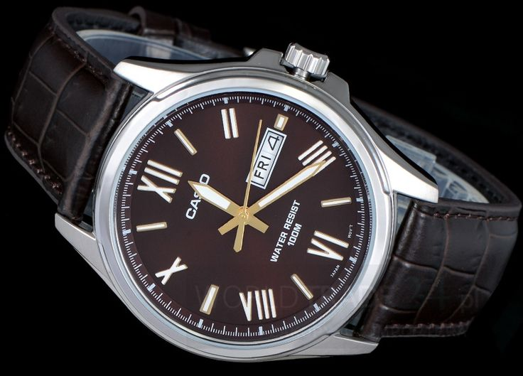 MEN'S WATCH CASIO MTP-1377L-5A BROWN DATA 100M - Zegarki, Zegarki damskie, zegarki męskie, zegarki Casio, zegarki Timex