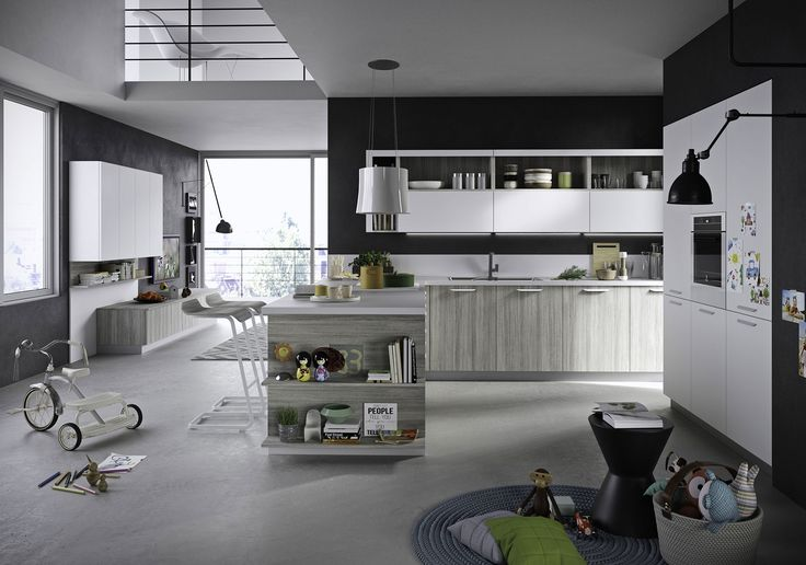Mellow, practical and unfussy. Fun is the ideal kitchen solution for anyone who is looking for authentic quality, efficiency and convenience. Sturdy and reliable, Fun is a kitchen project featuring handles with a definite modular structure, meaning it is perfect for bespoke design solutions.