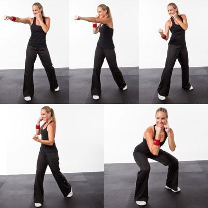 Kickboxing workout, shape magazine