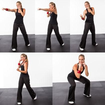 Kickboxing workout, shape magazine