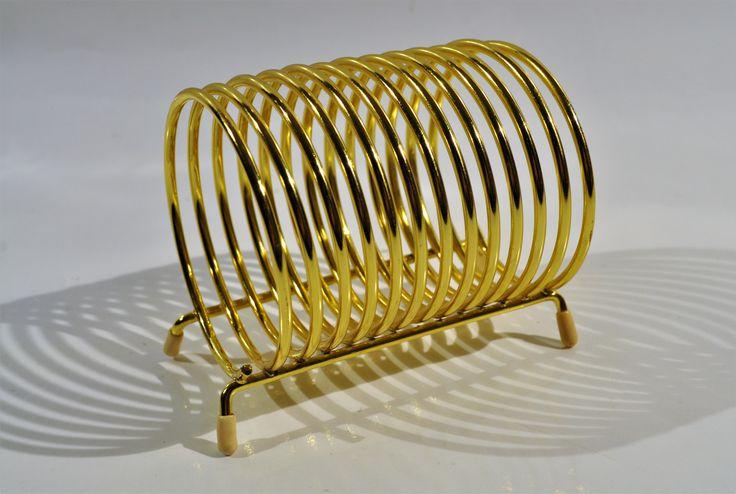 Mid Century Modern Metal Spring Coil Mail Holder/Letter holder/Office/library decor/mid century mail holder/desk organiser/midcentury modern by decor4home2 on Etsy