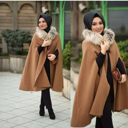 cape coat hijab style, Hijab trends from the street http://www.justtrendygirls.com/hijab-trends-from-the-street/