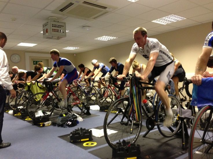 Bummed out about the bad weather?  Try group indoor cycling sessions.