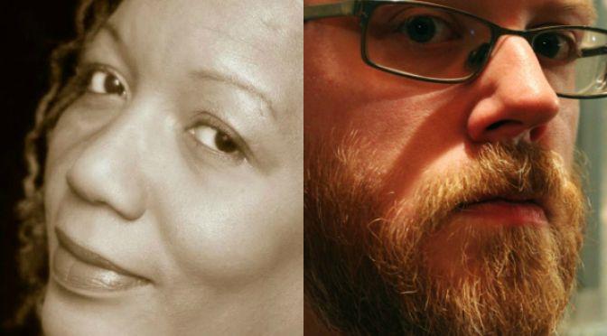 Acclaimed novelist Bernice McFadden and prolific pen monkey Chuck Wendig on Episode 3.: South Social, Novelist Bernice, Bernice Mcfadden, Chuck Manoeuvrable, Pen Monkey, Wordy South, Prolific Pen, Monkey Chuck