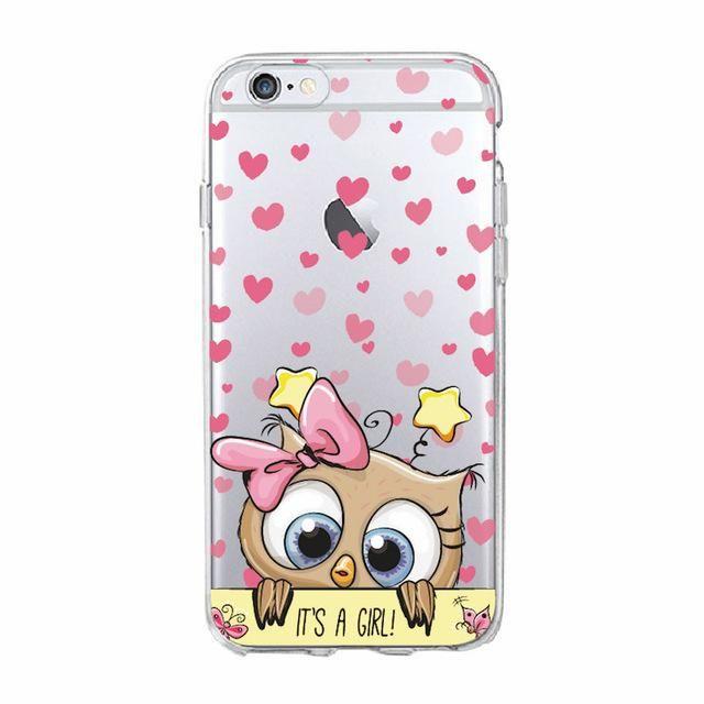 TOMOCOMO Cute Owl Hearts Lover Christmas Cartoon Phone Case Fundas