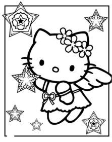 Hello Kitty Coloring Pages Angel