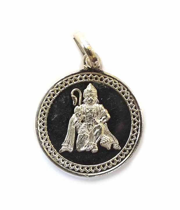 Traditional Hanuman Yantra Pendant Pure Silver Energized and Blessed Locket