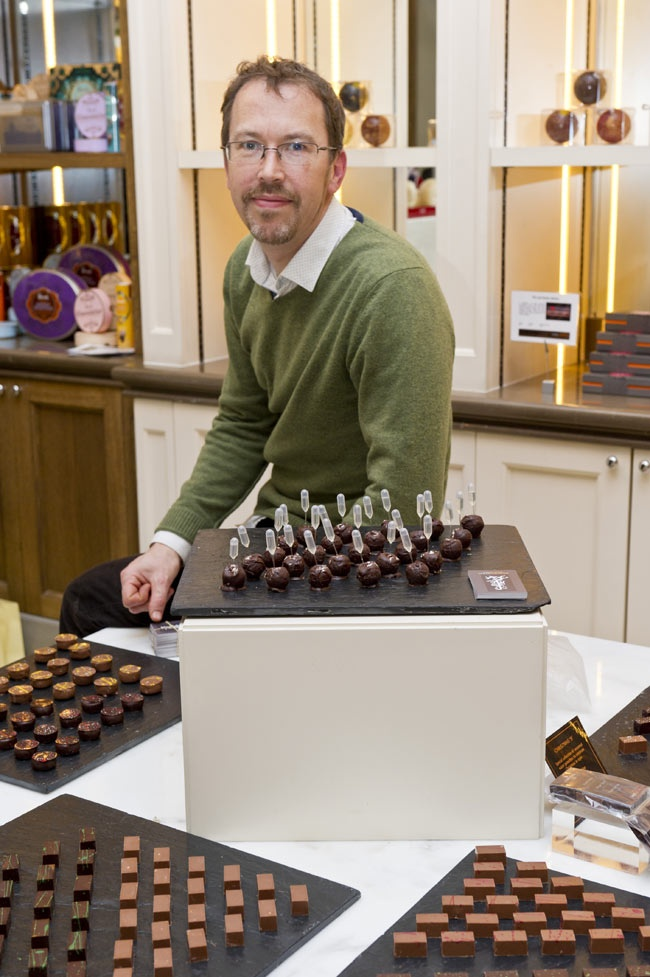 Damian Allsop began his #Chocolate life as a pastry chef. But not just any pastry chef – one of the most talented and loved pastry chef's in the Michelin starred world.  Having worked in some of the finest Michelin starred restaurants like The Aubergine with Gordon Ramsay and Locanda Locatelli with Giorgio we had high expectations, and he did not disappoint.