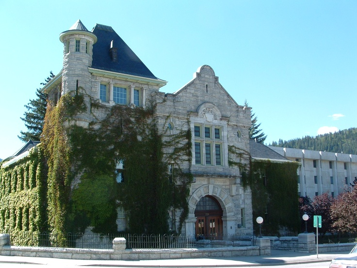 Court House in Nelson, BC, Canada