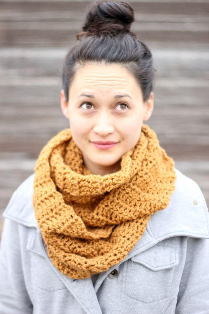double crochet infinity scarf – FREE PATTERN