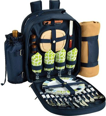 Picnic at Ascot Picnic Backpack for Four with Blanket - Trellis Green Backpacks. https://api.shopstyle.com/action/apiVisitRetailer?id=398283262&pid=uid8100-34415590-43