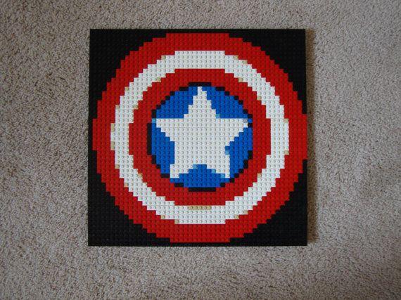 Captain America's Shield Lego Mosaic by Alexander DeVille!