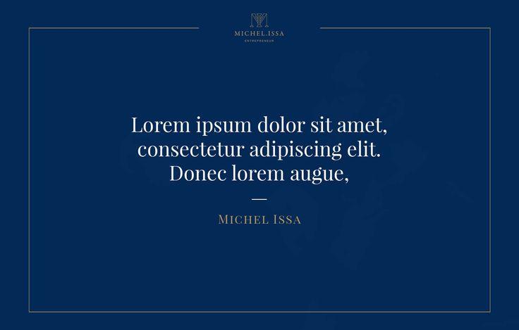 Brand identity and instagram quote template for Michel Issa  — Grafisk profil och instagram citat mall åt Michel Issa