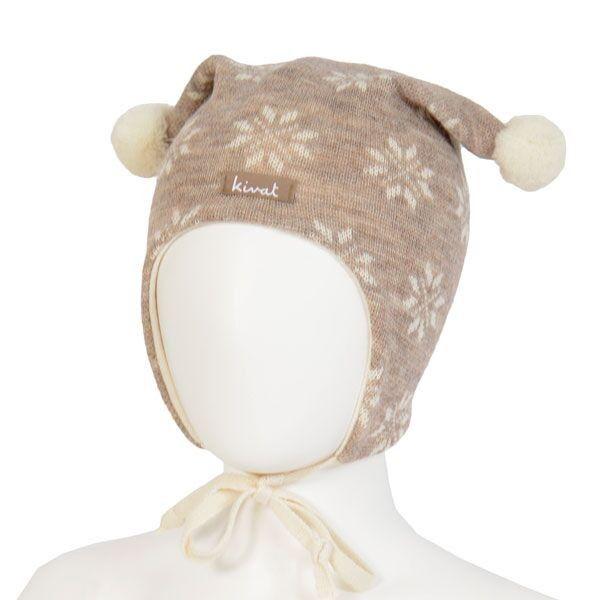 Kivat babylue, beige med snøkrystaller | DressMyKid.no - Barn og baby - Alltid gode tilbud