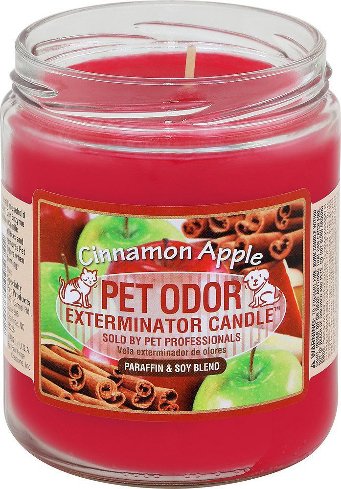 Pet Odor Exterminator Candle Cinnamon Apple Pet odors