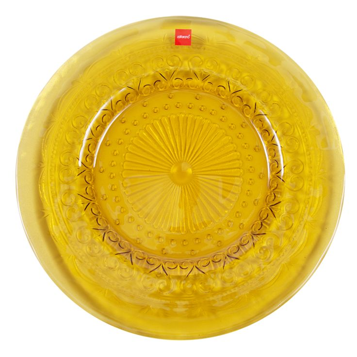Тарелка обеденная 28 см, янтарное стекло, серия Provenzale Coordinate, Zafferano - интернет магазин Акваль